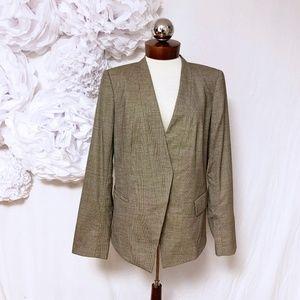 Lafayette 148 New York blazer jacket wool blend 12